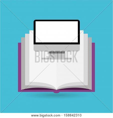 eduation online concept e-book school background vector illustration eps 10