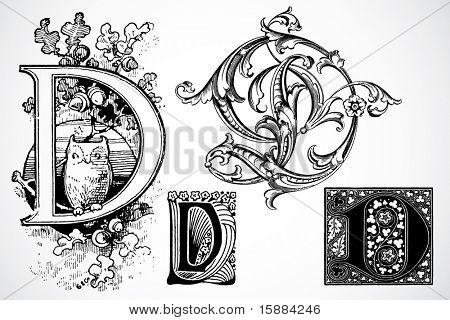 Vector Letter D - Set 2