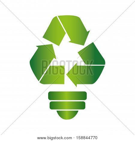 recycle symbol with arrows vector illustration design
