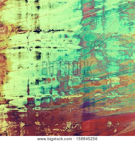 Grunge background for your design, aged shabby texture with different color patterns: yellow (beige); green; blue; red (orange); purple (violet); pink