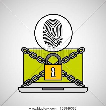 fingerprint security internet technology vector illustration eps 10