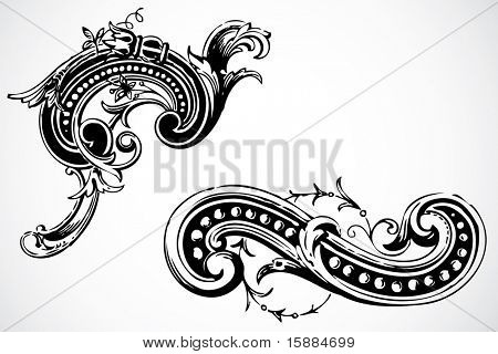 Vector ornamentos decorativos