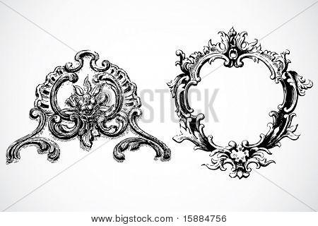 Vector Baroque Frames