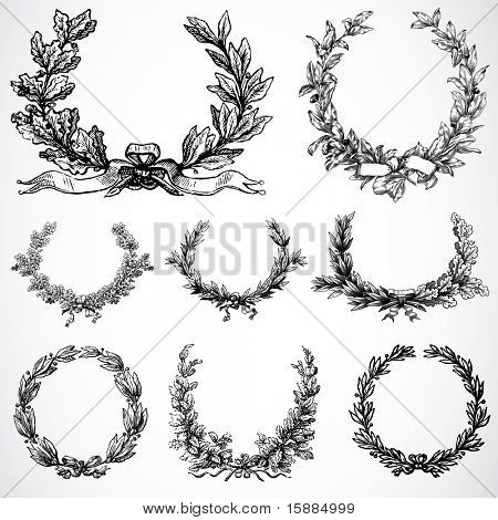 Vector Wreath Ornaments