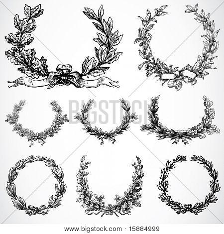 Vector ornamentos de grinalda