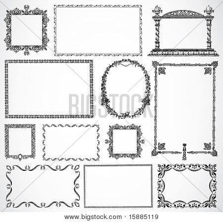 Vector Ornament Frame Set