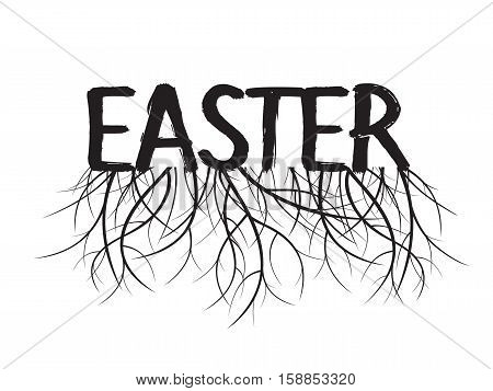 Easter and Roots. Vector Illustration and Graphic Element.