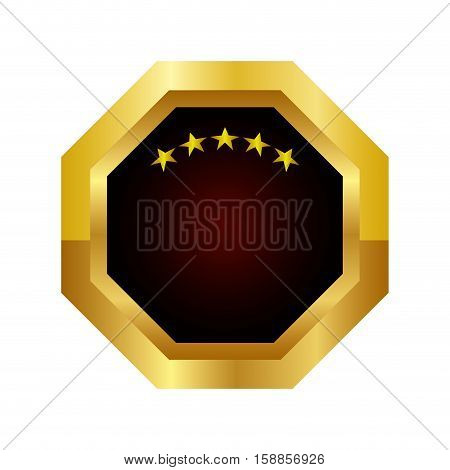 golden Quality seal guaranteed icon vector illustration design