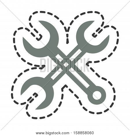 wrench tools isolated icon vector illustration design