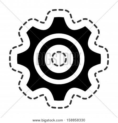 gear setting isolated icon vector illustration design