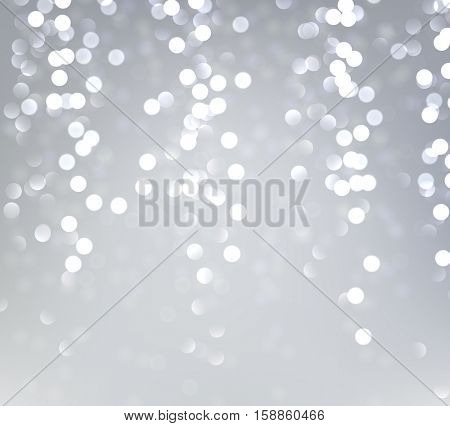 Festive silver luminous background. Vector illustration.