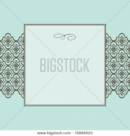 Vector Frame and Seamless Pattern
