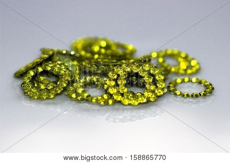 Yellow jewel - Citrine type clicked on the white background