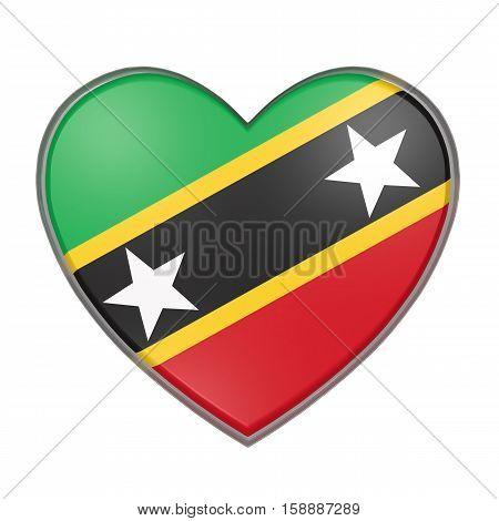 Saint Christopher And Nevis Heart