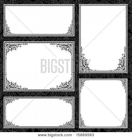Set of vector frames. Perfect for certificates and formal documents.