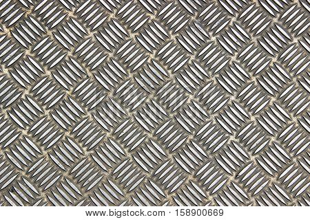 Stainless steel plate with alternated line patterns