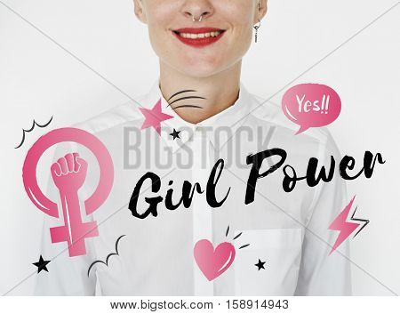 Girl Power Equality Feminist Women's Right Concept