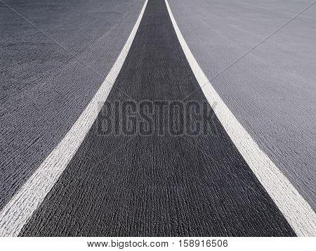 Perspective asphalted road street roadway runway railway