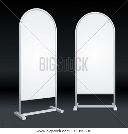 Advertising construction with empty space for your message or illustration. Vector illustration Eps 10.