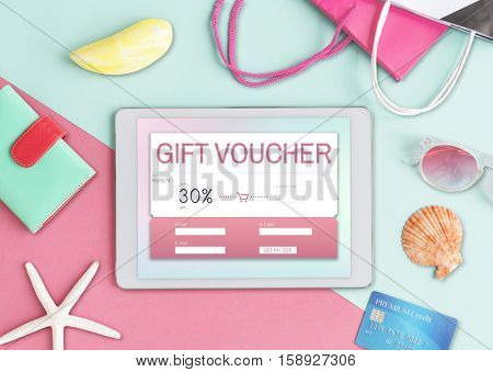 Gift Coupon Voucher Certificate Concept