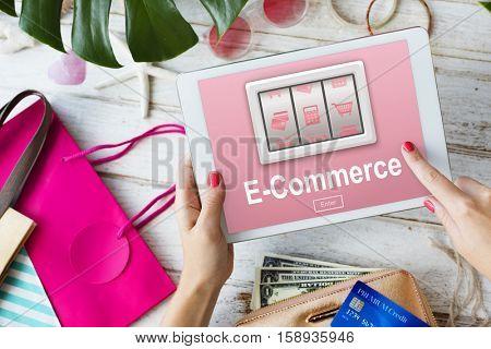 E-Commerce Online Shopping Order Store Buy Concept