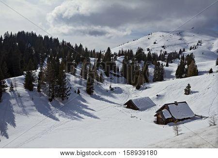 Winter Relax view of Alps near Rosstratten Austria