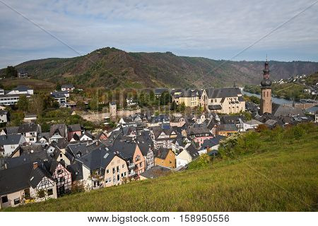 View of the town of Cochem in autumn, Germany