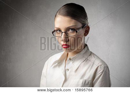 Sad beautiful woman