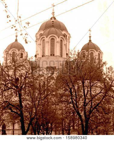 Kiev Ukraine - May 1964: Saint Volodymyr's Ukrainian Orthodox Cathedral.