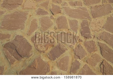 Background of stones arranged in a walkway