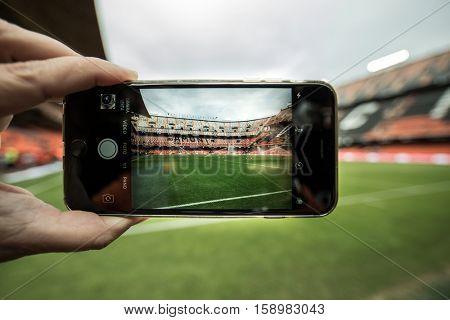 VALENCIA, SPAIN - NOVEMBER 20th: during La Liga soccer match between Valencia CF and Granada CF at Mestalla Stadium on November 20, 2016 in Valencia, Spain