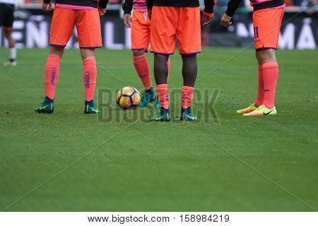 VALENCIA, SPAIN - NOVEMBER 20th: Players during La Liga soccer match between Valencia CF and Granada CF at Mestalla Stadium on November 20, 2016 in Valencia, Spain