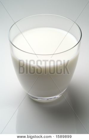 Glass Of Milk Isolated In White Background (W2)