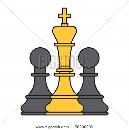 Flat checker chess logo vector. White and black character game strategy. Play sport competition leisure check empty. Intelligence challenge business concept.