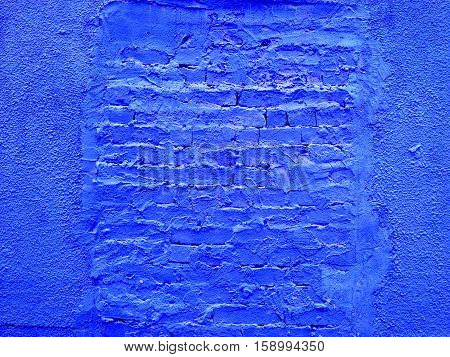 Blue old wall texture for background usage