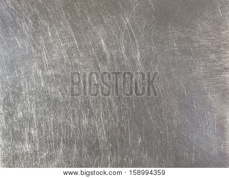 dirty old stainless steel texture, gray background