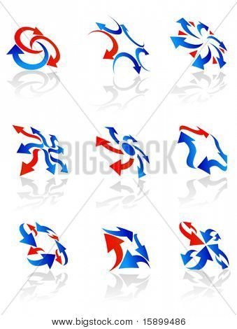 Set of arrow symbols for web design - also as emblem or logo. Jpeg version also available in gallery