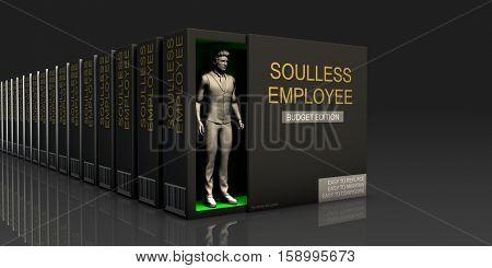 Soulless Employee Endless Supply of Labor in Job Market Concept 3D Illustration Render