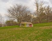 stock photo of emplacements  - bunkermilitary bunker and our time - JPG