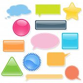 Set of labels, bubbles for you text. Vector