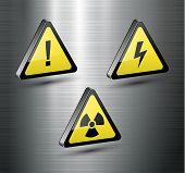 Постер, плакат: Предупреждение знаки установлен вектор
