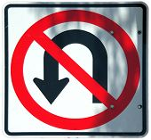 No U-turn Graphic