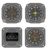 stock photo of gyro  - Aviation compass and heading indicator  - JPG