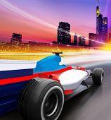 Постер, плакат: Скорость в городе