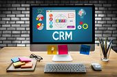 Crm  Business Customer Crm Management Analysis Service Concept , Customer Relationship Management Cr poster