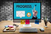 progress Up Business Performance Branding Strategy , Good Progress , Personal Development, Career G poster