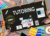 Tutoring ,  Tutor And His Online Education , Teaching Tutoring  Learning Education Teacher , Tutor C poster
