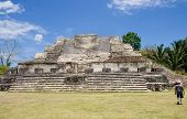 foto of ziggurat  - Image of the Mayan Ruins at Altun Ha Belize - JPG