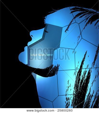 Abstract woman portrait silhouette, vector illustration