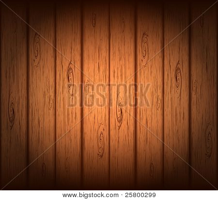 Vector wooden background.